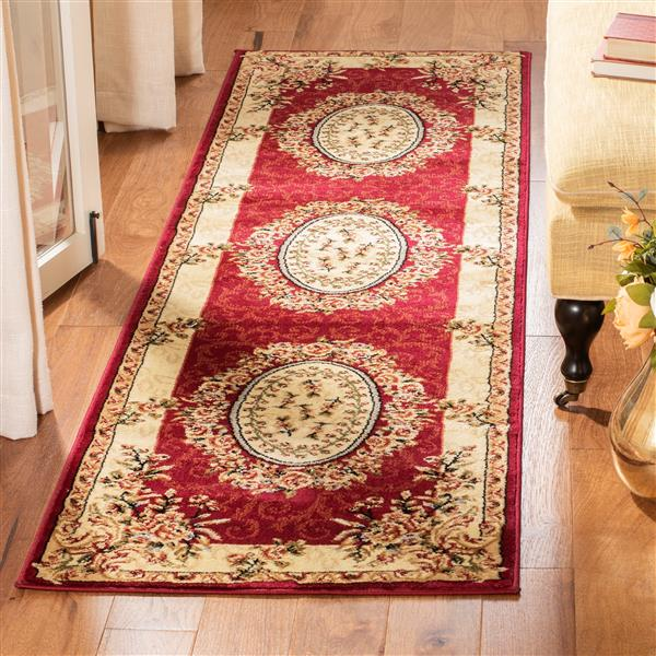 Safavieh Lyndhurst Decorative Rug - 2.3' x 12' - Red/Ivory