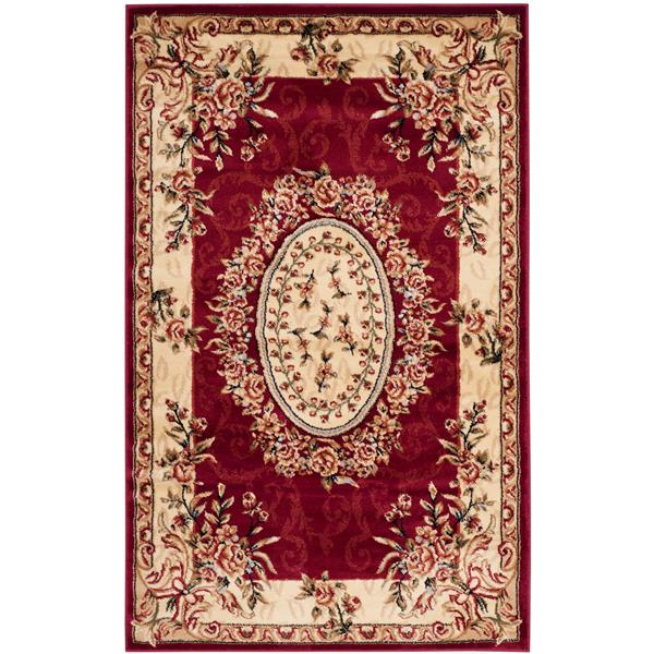 Safavieh Lyndhurst Decorative Rug - 3.3' x 5.3' - Red/Ivory