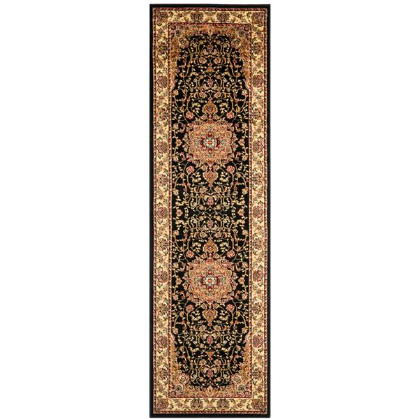Safavieh Lyndhurst Decorative Rug - 2.3' x 8' - Black/Ivory