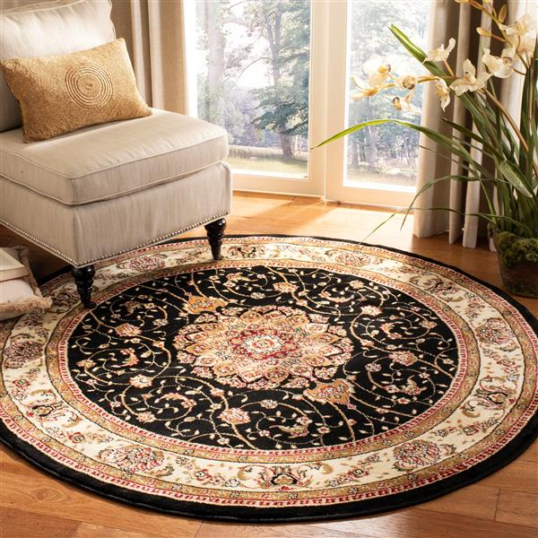 Safavieh Lyndhurst Decorative Rug - 5.3' x 5.3' - Black/Ivory