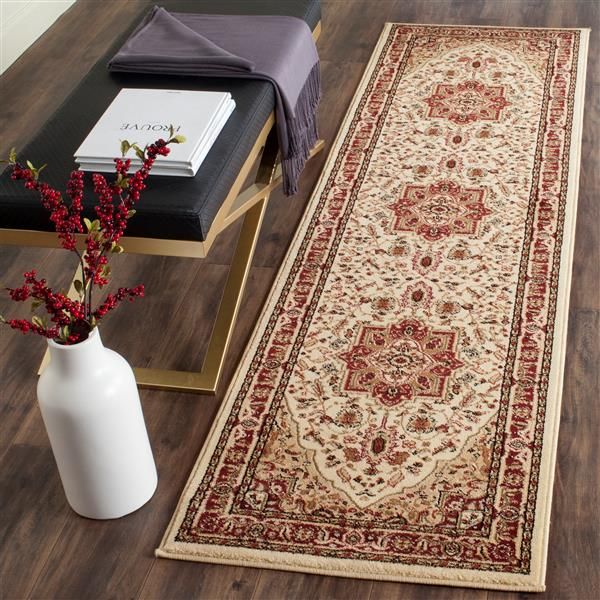 Safavieh Lyndhurst Decorative Rug - 2.3' x 14' - Ivory/Red