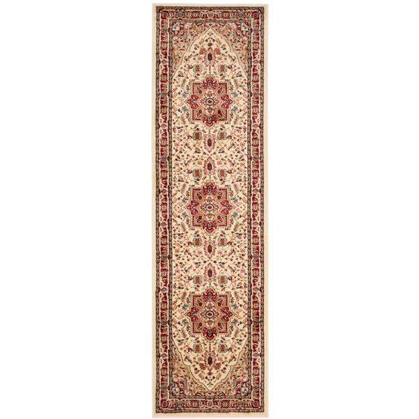 Safavieh Lyndhurst Decorative Rug - 2.3' x 16' - Ivory/Red