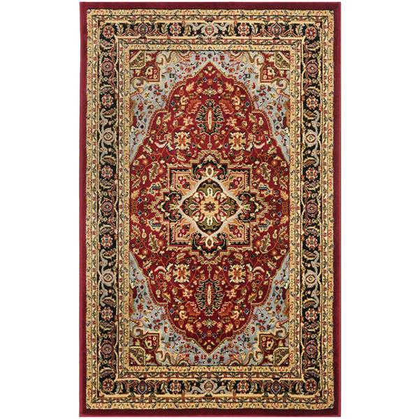 Safavieh Lyndhurst Decorative Rug - 3.3' x 5.3' - Red/Black
