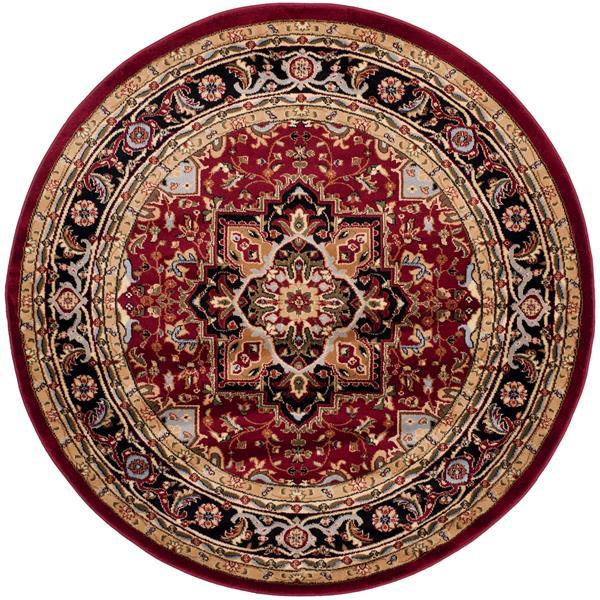 Safavieh Lyndhurst Decorative Rug - 5.3' x 5.3' - Red/Black