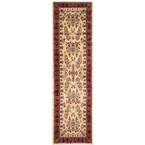 Safavieh Lyndhurst Decorative Rug - 2.3' x 8' - Ivory/Red