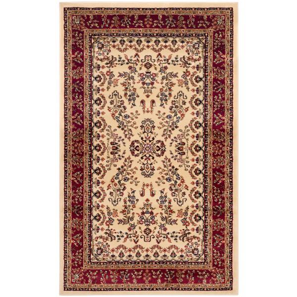 Safavieh Lyndhurst Decorative Rug - 3.3' x 5.3' - Ivory/Red