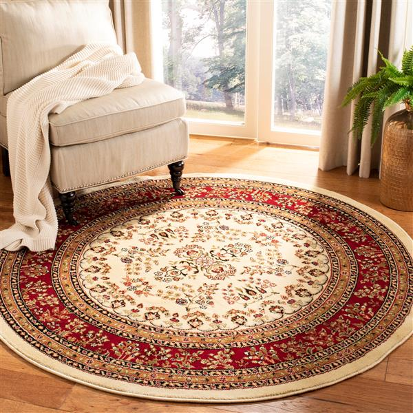 Safavieh Lyndhurst Decorative Rug - 5.3' x 5.3' - Ivory/Red