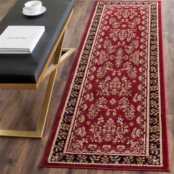 Safavieh Lyndhurst Decorative Rug - 2.3' x 12' - Red/Black