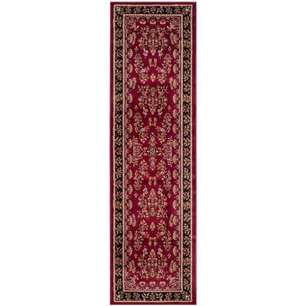 Safavieh Lyndhurst Decorative Rug - 2.3' x 16' - Red/Black