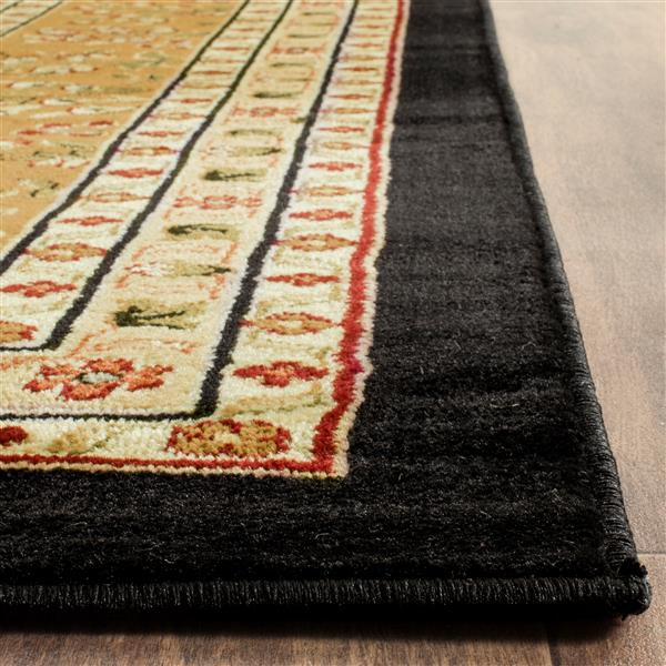 Safavieh Lyndhurst Decorative Rug - 2.3' x 16' - Black/Tan