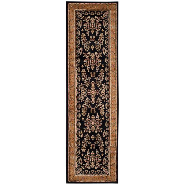Safavieh Lyndhurst Decorative Rug - 2.3' x 8' - Black/Tan