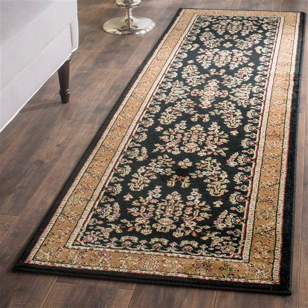 Safavieh Lyndhurst Decorative Rug - 2.3' x 14' - Black/Tan