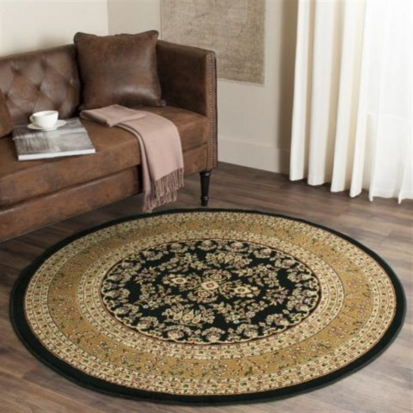 Safavieh Lyndhurst Decorative Rug - 5.3' x 5.3' - Black/Tan
