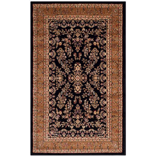 Safavieh Lyndhurst Decorative Rug - 3.3' x 5.3' - Black/Tan