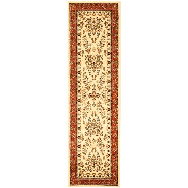 Safavieh Lyndhurst Decorative Rug - 2.3' x 14' - Ivory/Rust