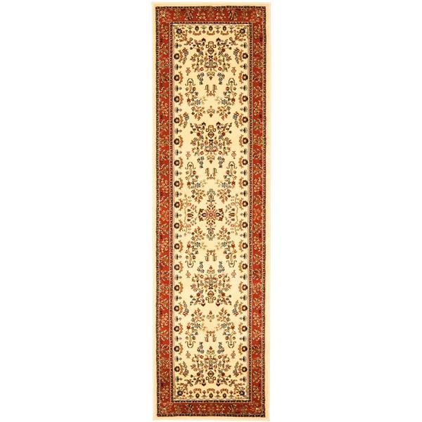 Safavieh Lyndhurst Decorative Rug - 2.3' x 16' - Ivory/Rust