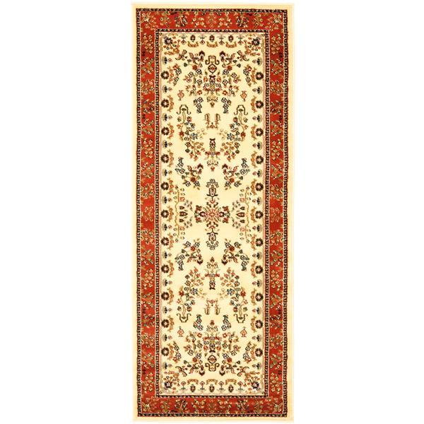 Safavieh Lyndhurst Decorative Rug - 2.3' x 6' - Ivory/Rust
