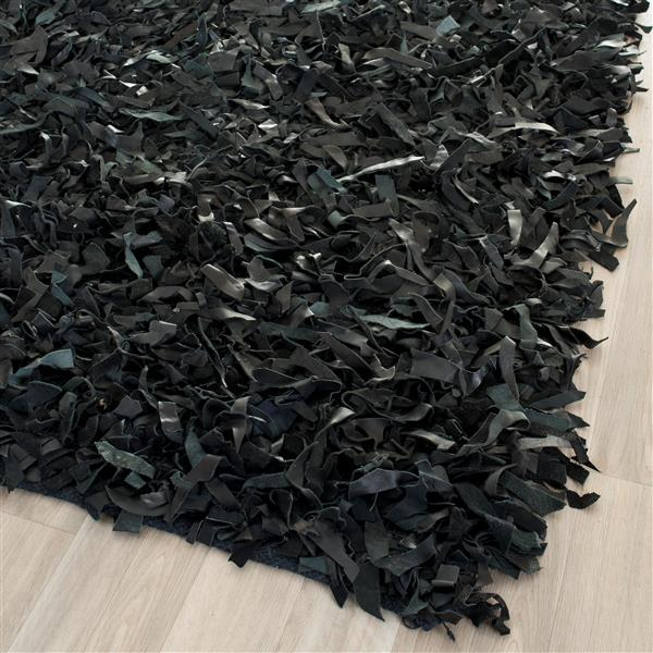 Safavieh Leather Shag Decorative Rug - 2.3' x 4' - Black