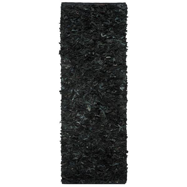Safavieh Leather Shag Decorative Rug - 2.3' x 6' - Black