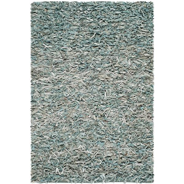 Safavieh Leather Shag Decorative Rug - 4' x 6' - Light Blue