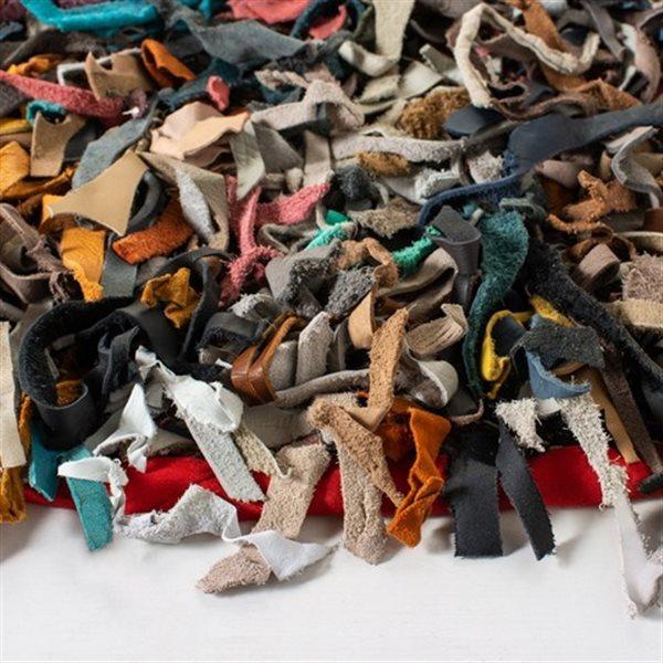 Safavieh Leather Shag Decorative Rug - 4' x 4' - Multi
