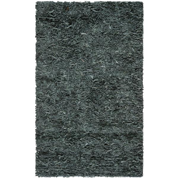 Safavieh Leather Shag Decorative Rug - 2.3' x 4' - Grey