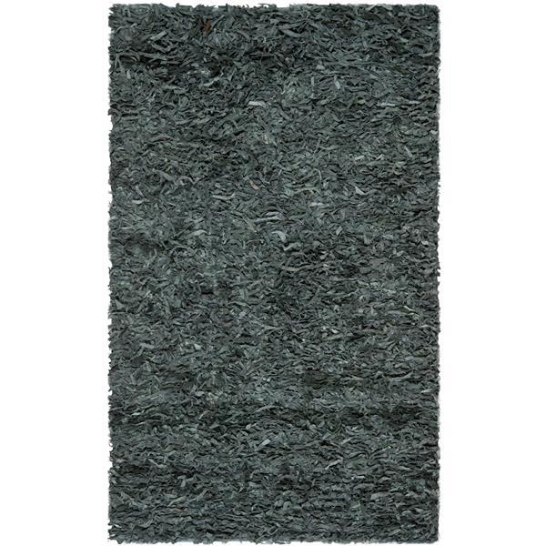 Safavieh Leather Shag Decorative Rug - 4' x 6' - Grey