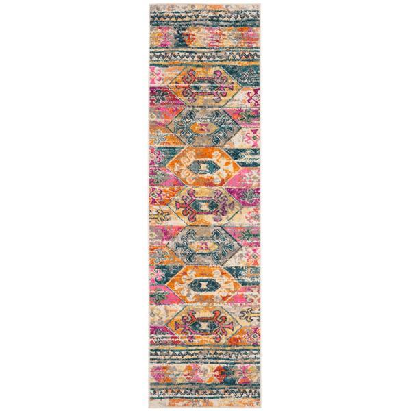 Safavieh Madison Decorative Rug - 2.3' x 8' - Blue/Fuchsia