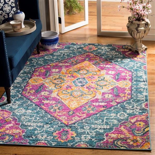 Safavieh Madison Decorative Rug - 3' x 5' - Blue/Fuchsia