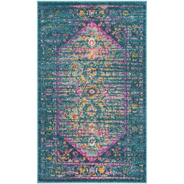 Safavieh Madison Decorative Rug - 3' x 5' - Blue/Fuchsia