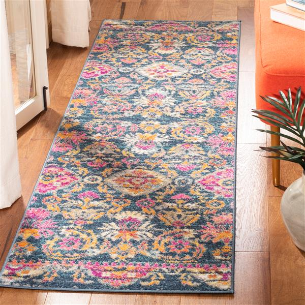 Safavieh Madison Decorative Rug - 2.3' x 8' - Blue/Fuchsia