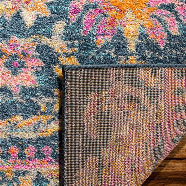 Safavieh Madison Decorative Rug - 5.1' x 7.5' - Blue/Fuchsia
