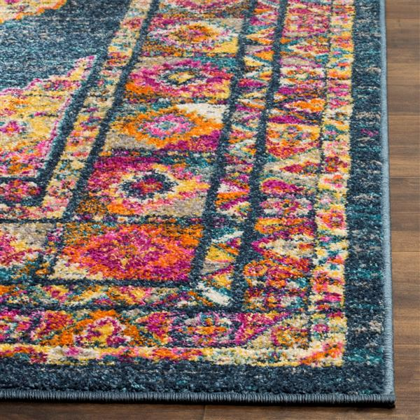 Safavieh Madison Decorative Rug - 4' x 6' - Blue/Fuchsia