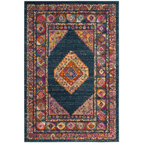 Safavieh Madison Decorative Rug - 5.1' x 7.5' - Blue/Fuchsia