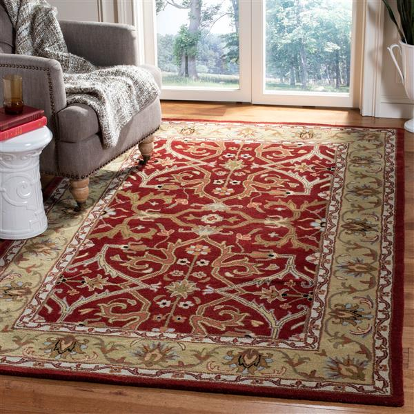 "Safavieh Heritage Decorative Rug - 7' 6"" x 9' 6"" - Red/Gold"