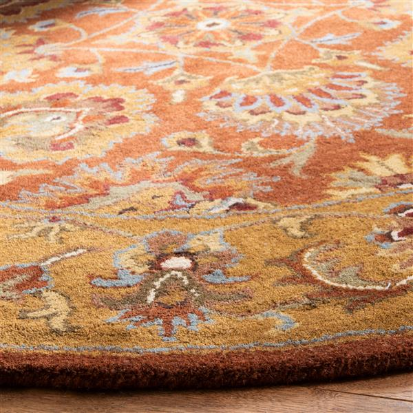 "Safavieh Heritage Decorative Rug - 7' 6"" x 9' 6"" - Red/Natural"