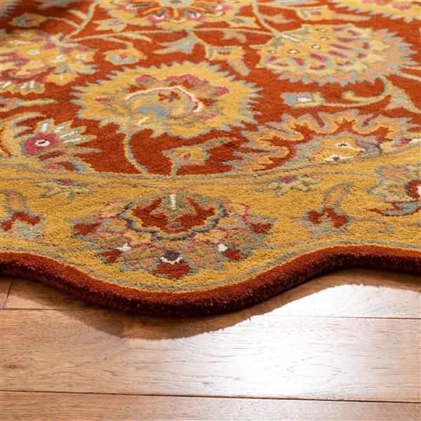 "Safavieh Heritage Decorative Rug - 7' 6"" x 9' 6"" - Red/Natural"
