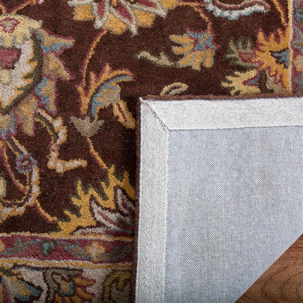 "Safavieh Heritage Decorative Rug - 7' 6"" x 9' 6"" - Brown/Ivory"