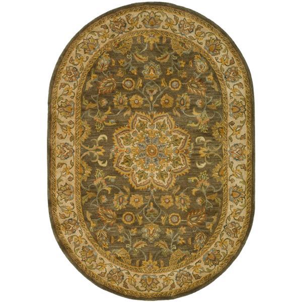 "Safavieh Heritage Decorative Rug - 7' 6"" x 9' 6"" - Green/Taupe"
