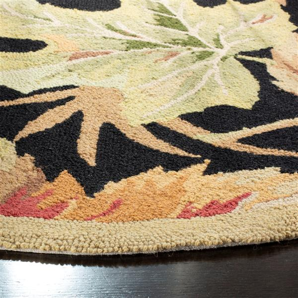 "Chelsea Decorative Rug - 2' 6"" x 6' - Black"