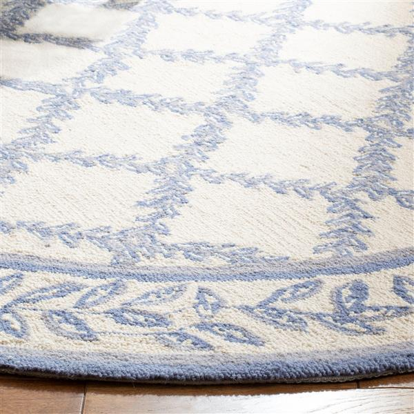 Safavieh Round Chelsea Rug - 3' x 3' - Ivory/Light Blue