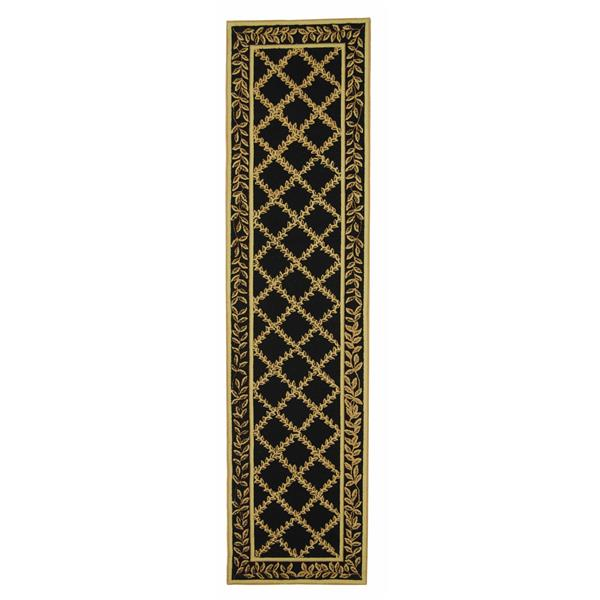 "Safavieh Chelsea Decorative Rug - 2' 6"" x 8' - Black/Gold"