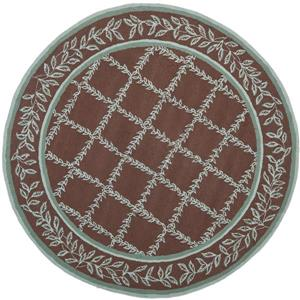 Chelsea Round Rug - 3' x 3' - Brown/Blue
