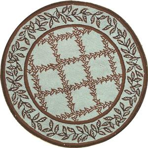 Chelsea Round Rug - 4' x 4' - Blue/Brown