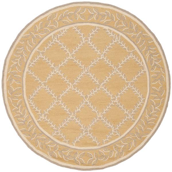 Safavieh Chelsea Round Rug - 4' x 4' - Yellow/Grey