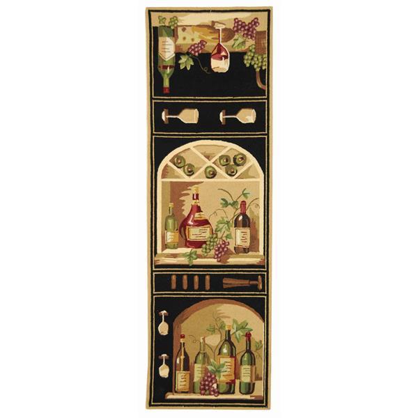 "Safavieh Chelsea Decorative Rug - 2' 6"" x 6' - Black"