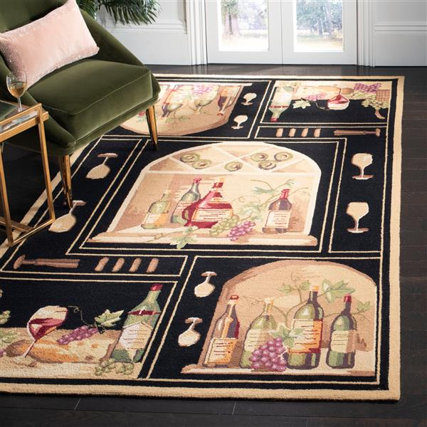 "Safavieh Chelsea Decorative Rug - 2' 6"" x 4' - Black"