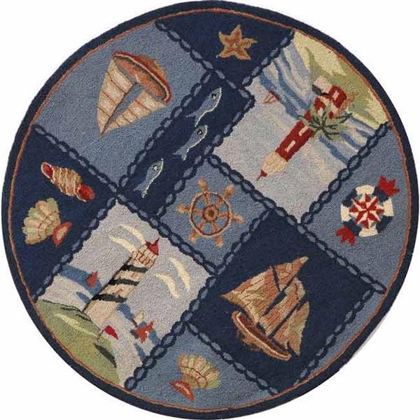 Safavieh Chelsea Round Rug - 4' x 4' - Blue