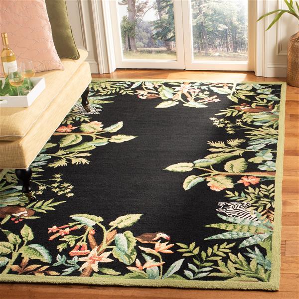 "Safavieh Chelsea Decorative Rug - 2' 6"" x 4' - Black/Green"
