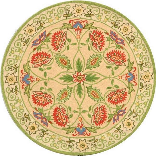 Safavieh Chelsea Round Rug - 4' x 4' - Beige/Green